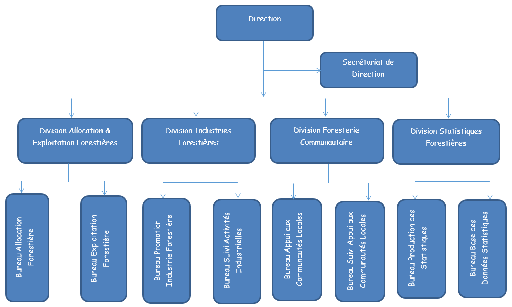 ORGANIGRAMME DE LA DIRECTION GESTION FORESTIERE