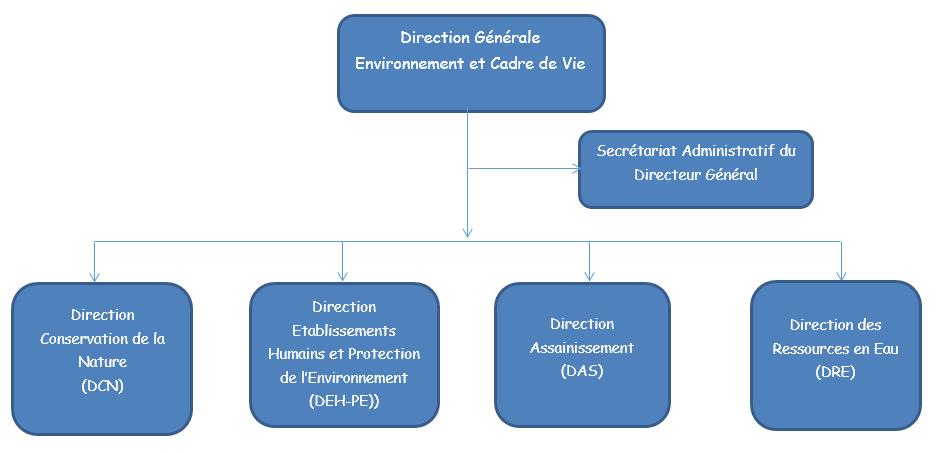 ORGANIGRAMME DE LA DG-ECV