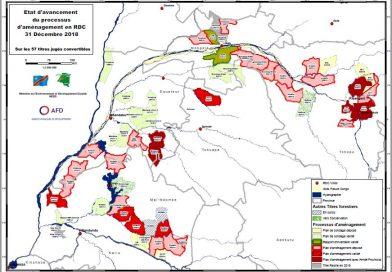 Carte d'avancement du processus d'aménagement des concessions forestiers au 31-12-2018