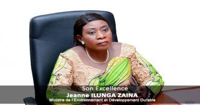 Son Excellence Madame Jeanne ILUNGA ZAINA, Vice-Ministre de l'Environnement et Développement Durable