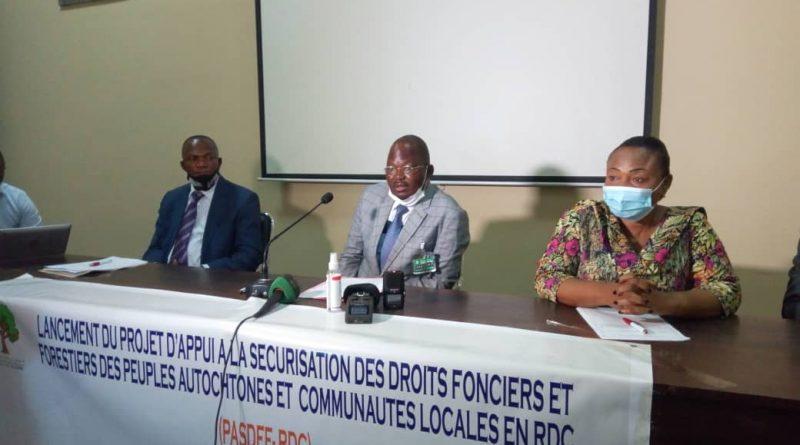 LANCEMENT OFFICIEL DU PROJET « D'APPUI A LA SECURISATION DES DROITS FONCIERS ET FORESTIERS DES COMMUNAUTES LOCALES ET PEUPLES AUTOCHTONES EN RDC (PASDFF-RDC) »
