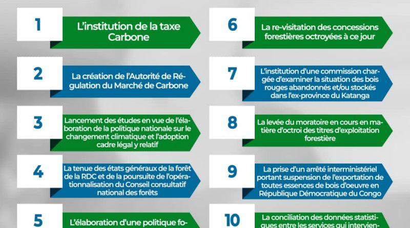 Conseil des ministres Eve Bazaiba fait adopter 10 mesures urgentes pour la gestion durable des ressources naturelles