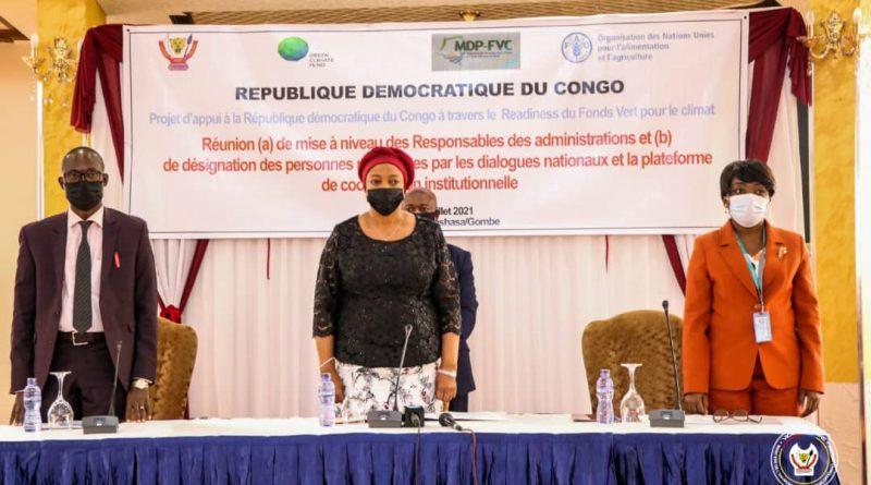 Projet d'appui à travers le readiness du Fonds vert pour le climat Eve Bazaiba relève les besoins réels de la RDC