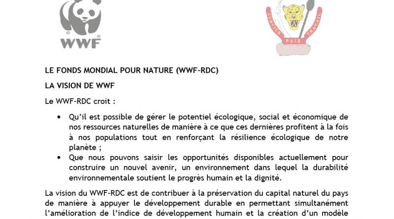 VISION DU FONDS MONDIAL POUR NATURE (WWF-RDC)
