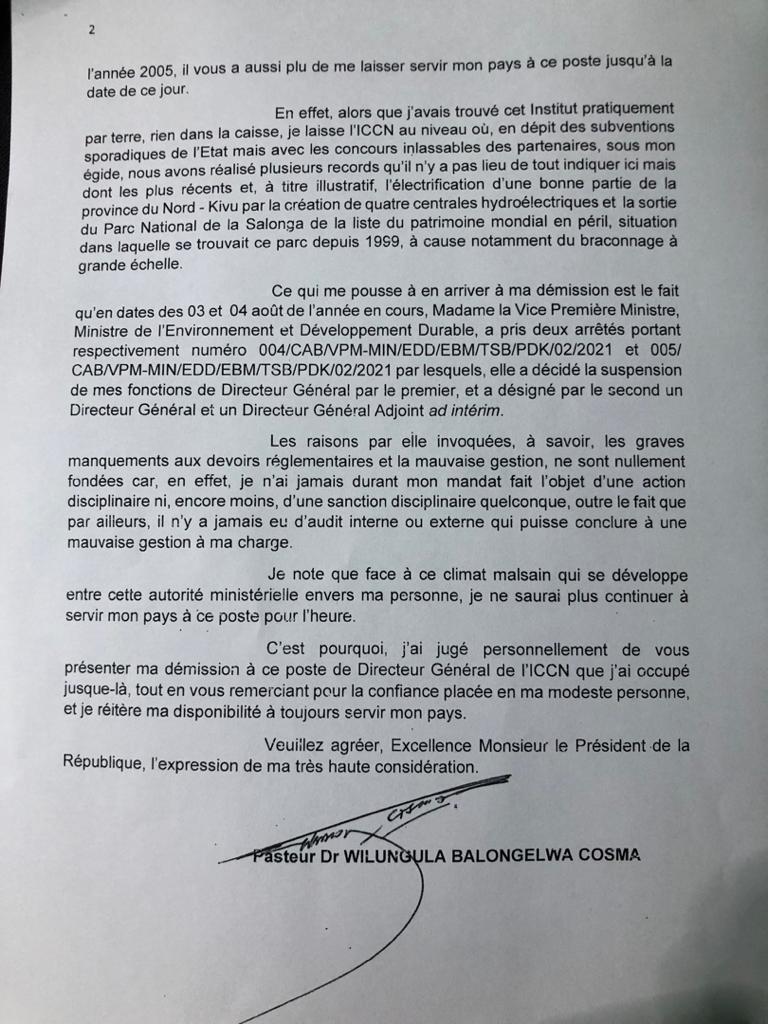 Lettre-de-demission-de-Monsieur-WILUNGULA-BALONGELWA-Cosma-au-poste-de-Directeur-General-de-lICCN-2