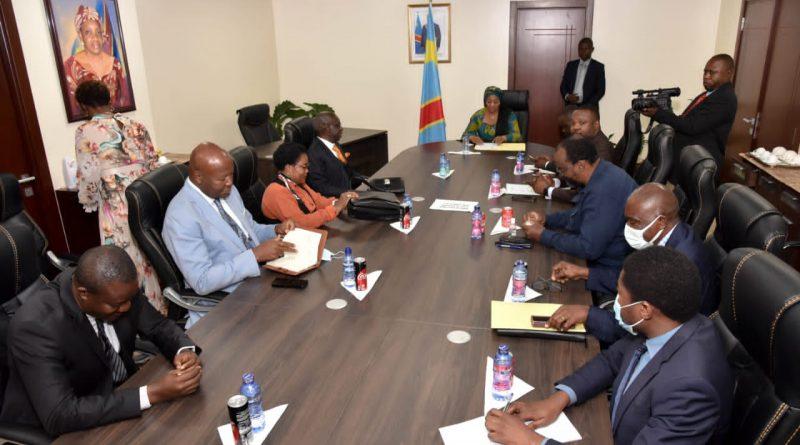 La Délégation de la Fédération des Entreprises du CONGO reçue par Eve Bazaiba