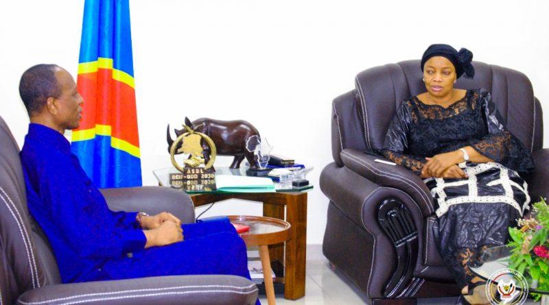 Entretien de la VPM-MEDD et le Représentant Résident de la PNUD/RDC